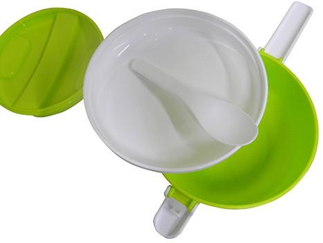 Marmita Com 2 Compartimentos Marmitex Para Microondas E Freezer Verde (CA09113)
