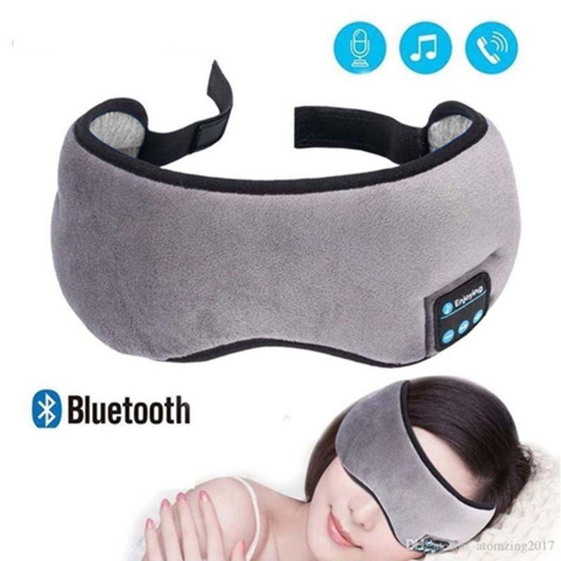 Mascara Para Dormir Bluetooth com Fone de Ouvido Tapa Olho Sono Tranquilo Relaxante
