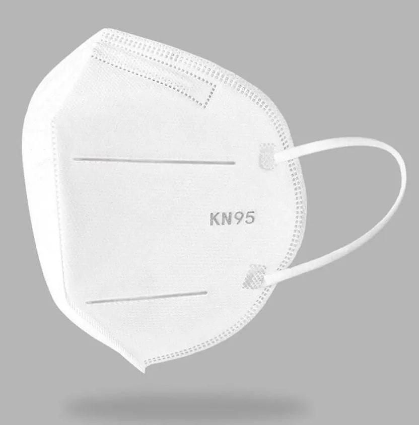 Mascara Respiratoria KN95 Kit 50 Uni Profissional Proteção PFF2 Respirador EPI N95