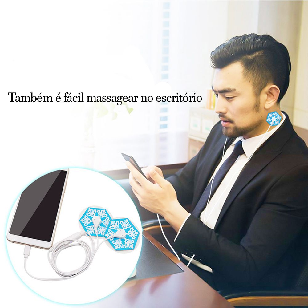 Massageador elétrico portátil  estimulador corpo muscular tonificador celular relaxamento Alívio da dor