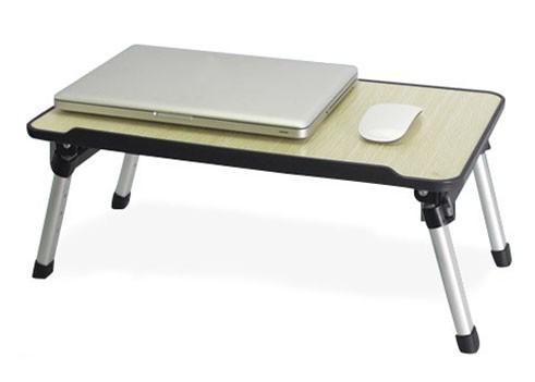 Mesa Para Notebook Ajustavel Com Cooler 4 Niveis Altura Aluminio E Madeira (BSL-MESA-4)