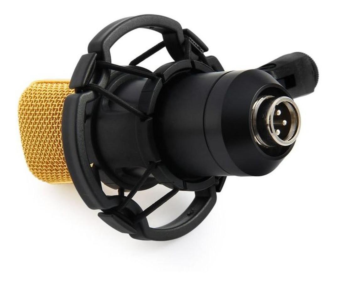 Microfone Condensador Profissional Unidirecional Youtuber Gravaçao Live Estudio Audio Musica Podcast Home Studio