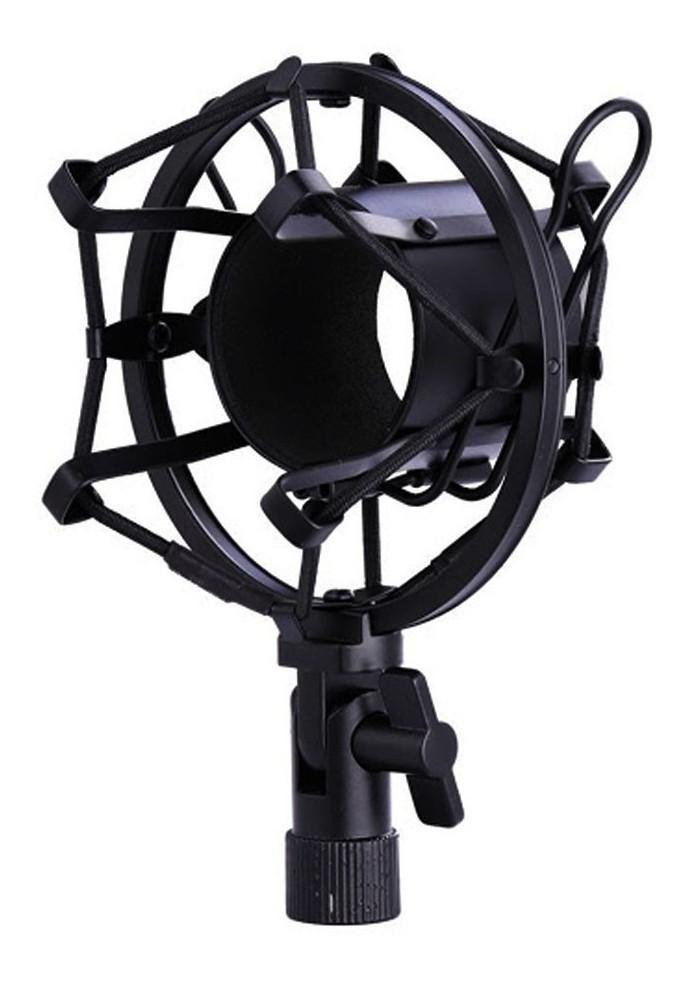 Microfone Condensador Unidirecional Youtuber Profissional Estudio Gravaçao Live Audio Home Studio Musica Podcast Festa