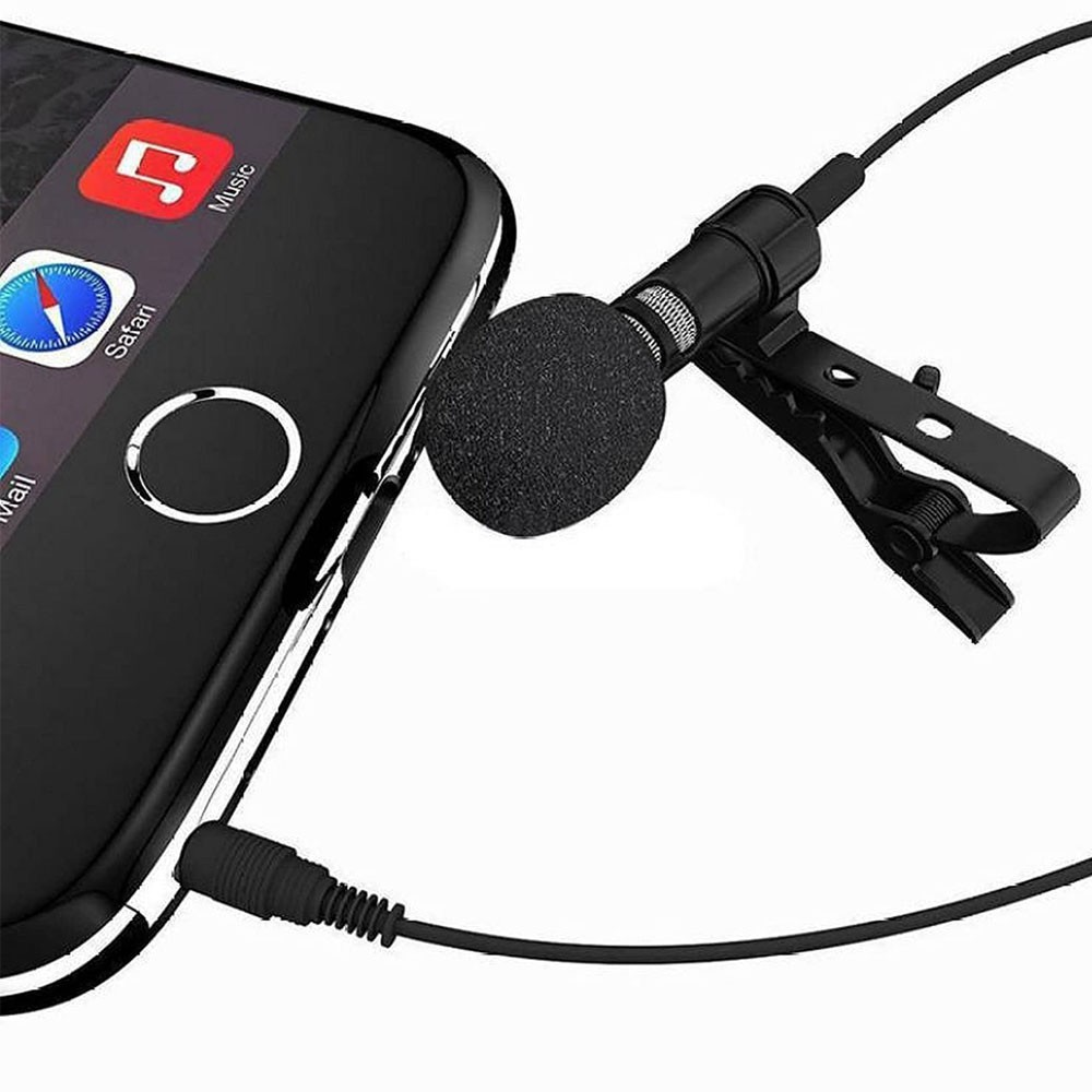 Microfone de Lapela Profissional Celular Palestra Evento Youtuber Jornalista Reportagem Professor Gravaçao Audio Smartphone