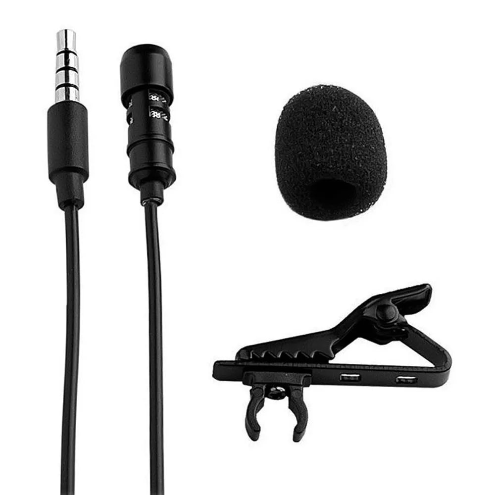 Microfone de Lapela Profissional Celular Palestra Youtuber Jornalista Reportagem Professor Evento Gravaçao Audio Smartphone