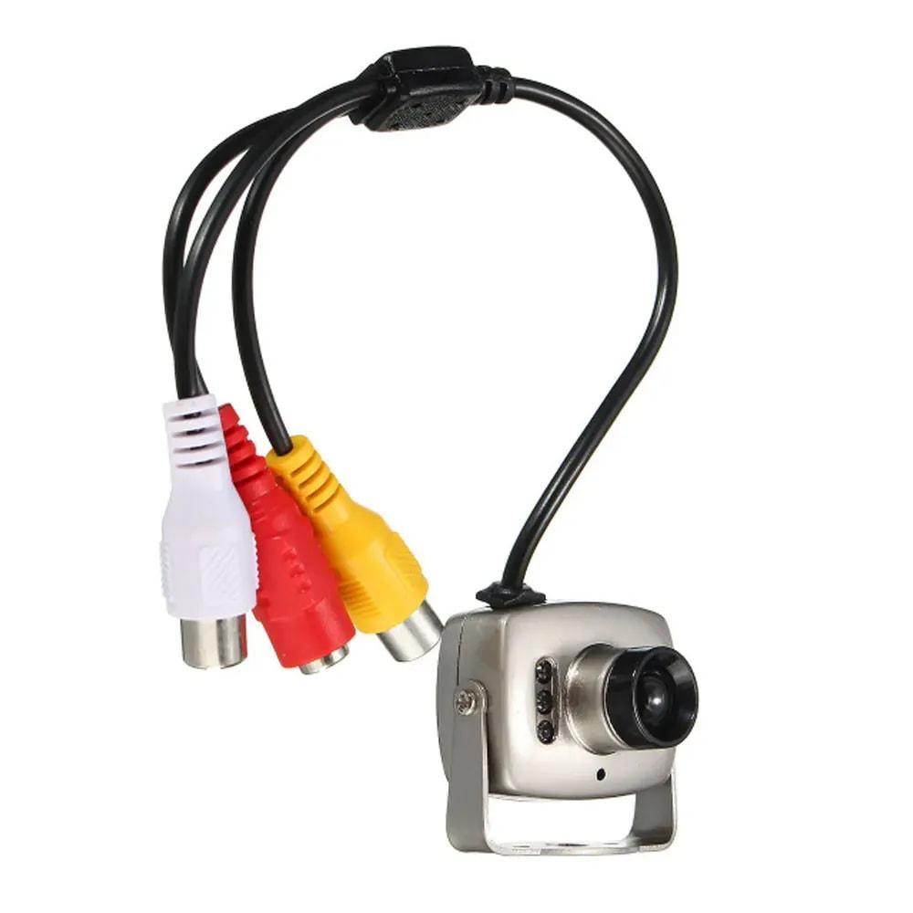 Mini camera infravermelho Visao Noturna CCD 6 LED CMOS CCTV Segurança Colorido