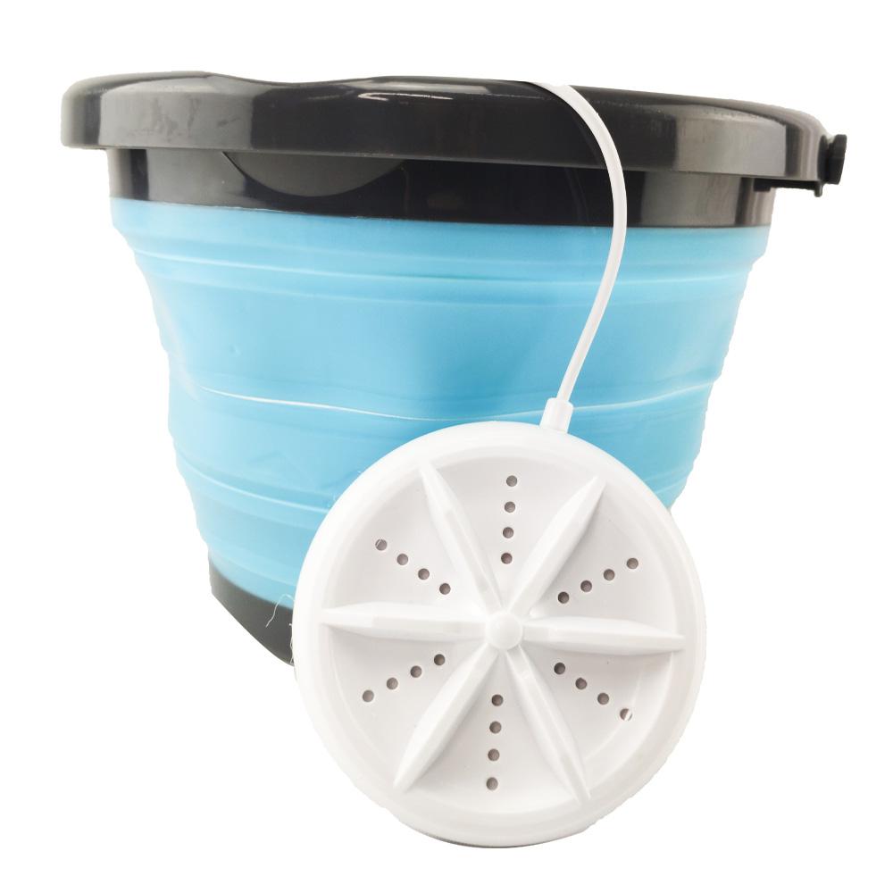 Mini Maquina de Lavar Balde Retratil Dobravel 4l Usb Portatil Panos Mascaras Meias Roupas
