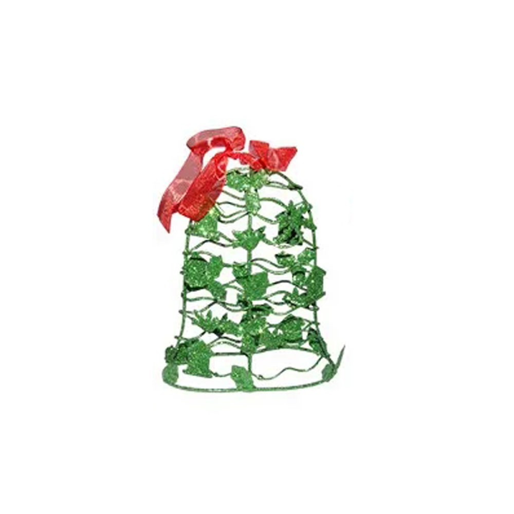 Mini Sino de Natal Verde Decoracao Natalino Kit com 3 unidades (NA-12 Mini Sino Verde)