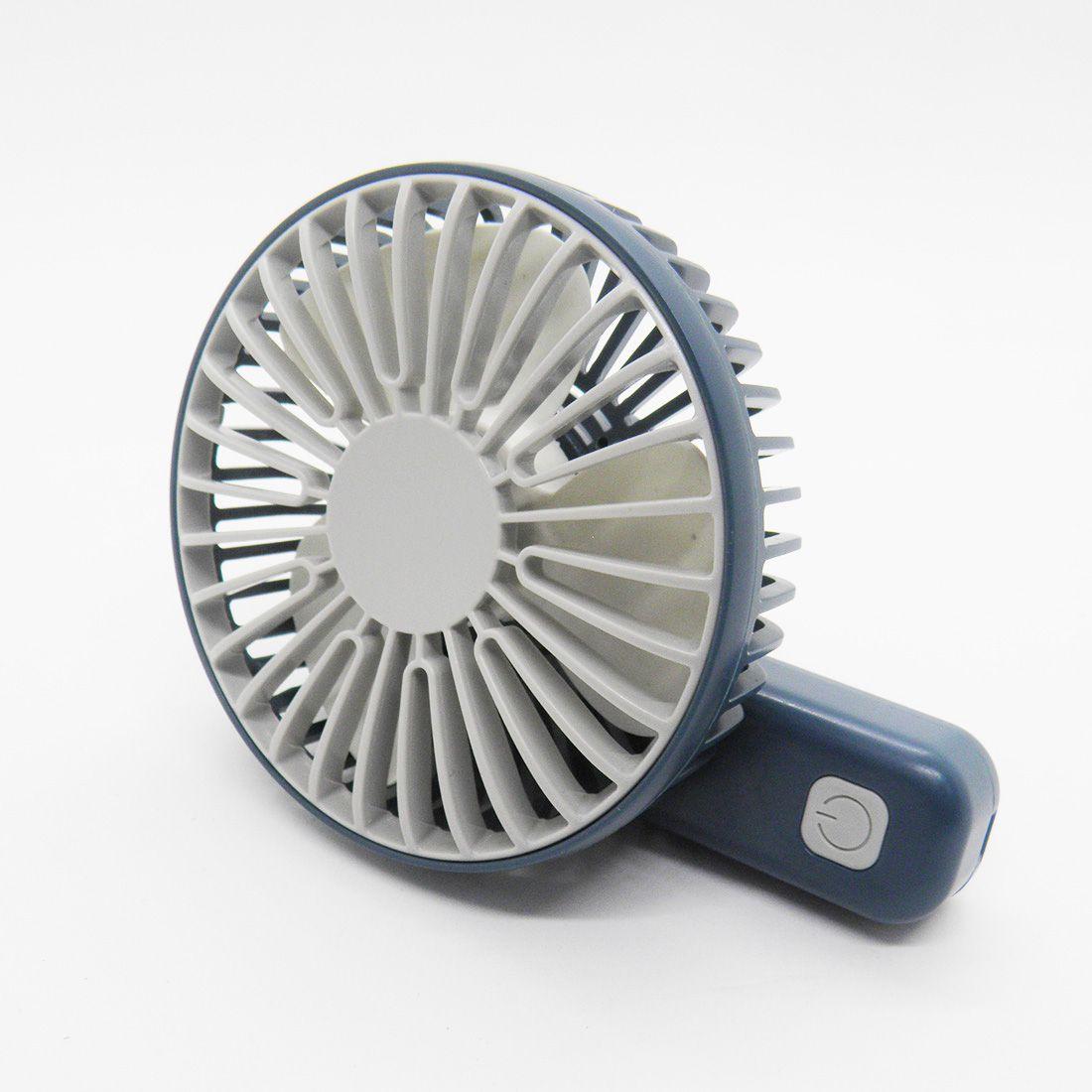 Mini Ventilador Recarregavel USB De Mao Bateria Portatil 3 Velocidades