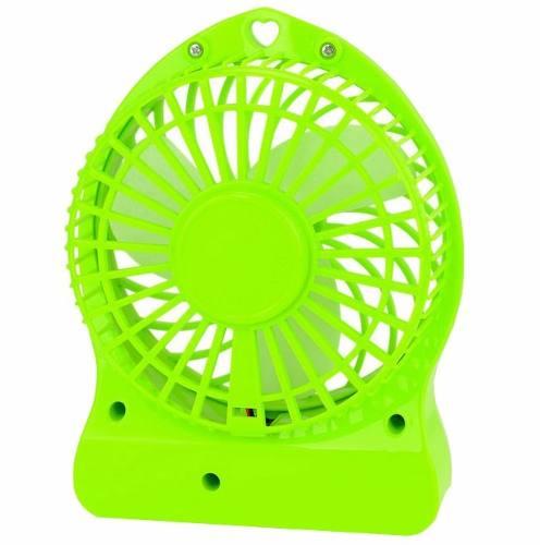 Mini Ventilador Portátil com Bateria Carregavel  Usb para Notebook e Pc Verde (JA90394-Verde)
