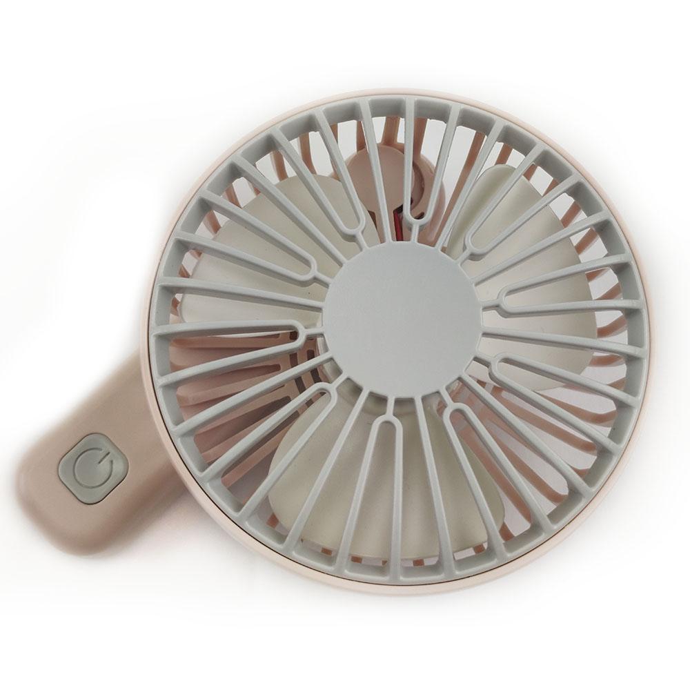 Mini Ventilador Recarregavel USB De Mao 3 Velocidades Bateria Portatil