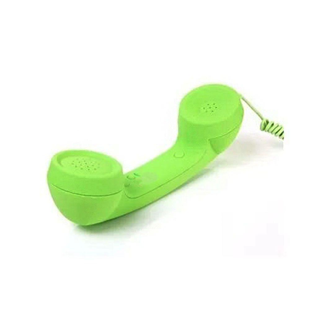 Monofone Pop Phone Verde Fone Ouvido Vintage Retro Celular Smartphone Tablet