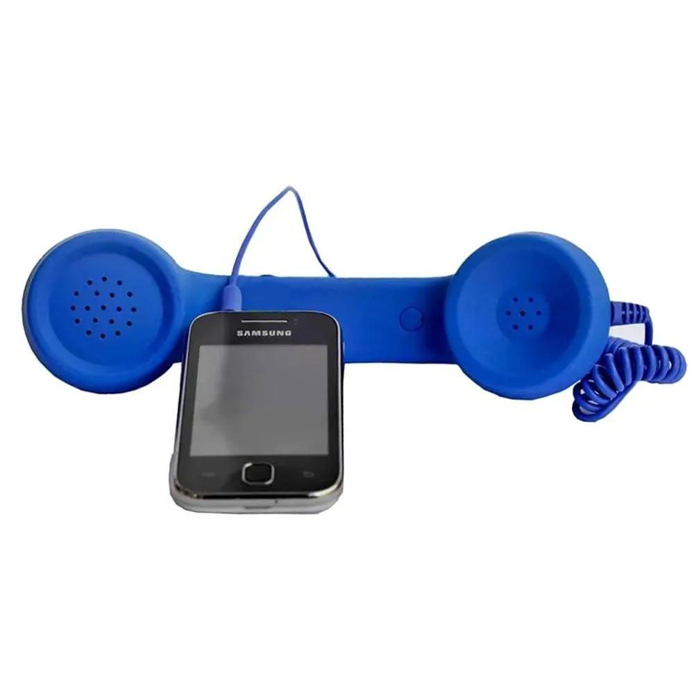 Monofone Pop Phone Azul Fone Ouvido Vintage Retro Celular Smartphone Tablet