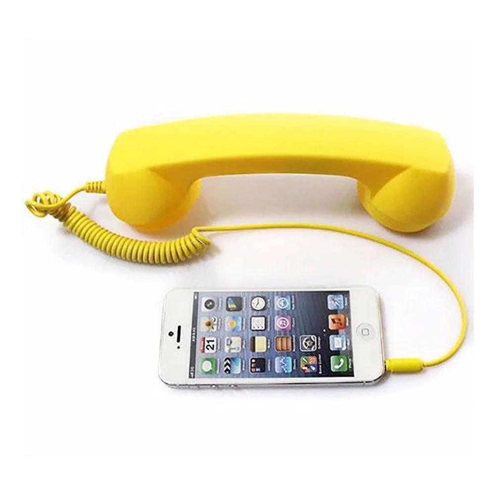 Monofone Pop Phone Amarelo Fone Ouvido Vintage Retro Celular Smartphone Tablet