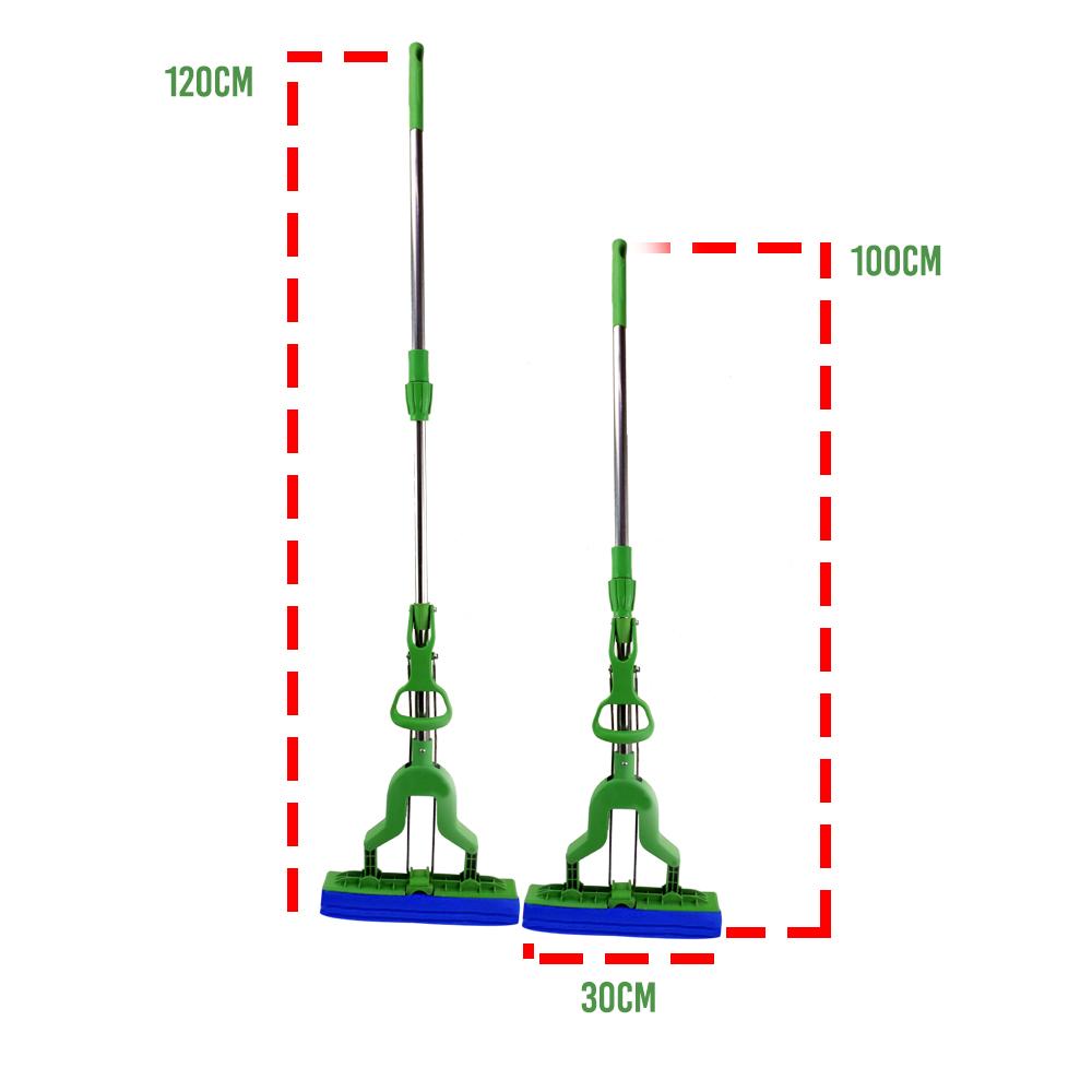Mop Flexível Compacto Ajustável Flat Limpa Chao Faxina Telescopico Lava Seca Fit