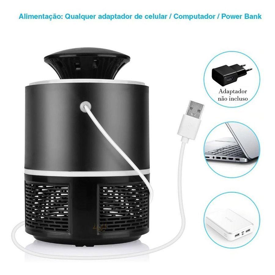 Mosquiteiro Repelente Armadilha Mata Mosquito LED UV Zika Dengue Eletrico
