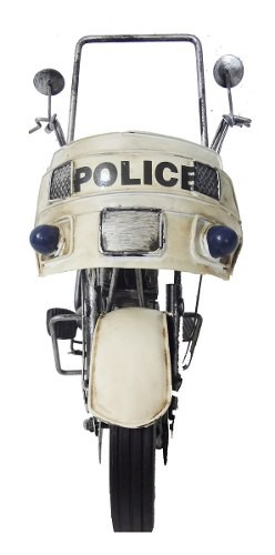 Moto Police Miniatura  Londres Vintage De Metal Fundido
