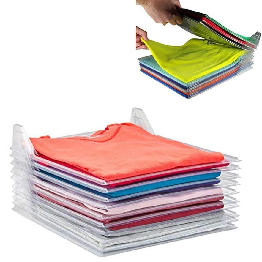 Organizador De Roupas 10 Divisorias Guardar Dobrado Camisas Arquivo