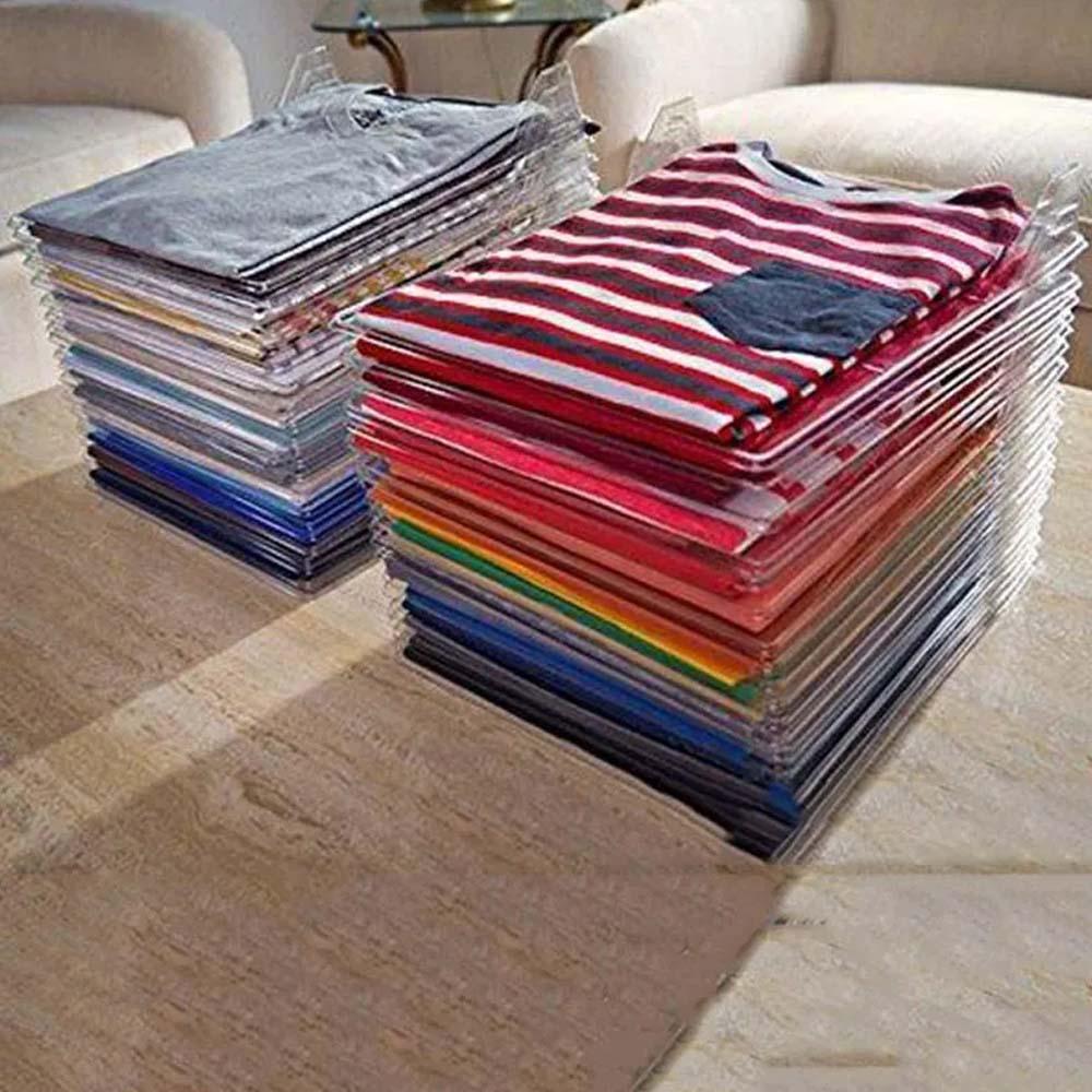 Organizador De Roupas Tipo 10 Divisorias Guardar Dobrado Arquivo Camisetas Camisas