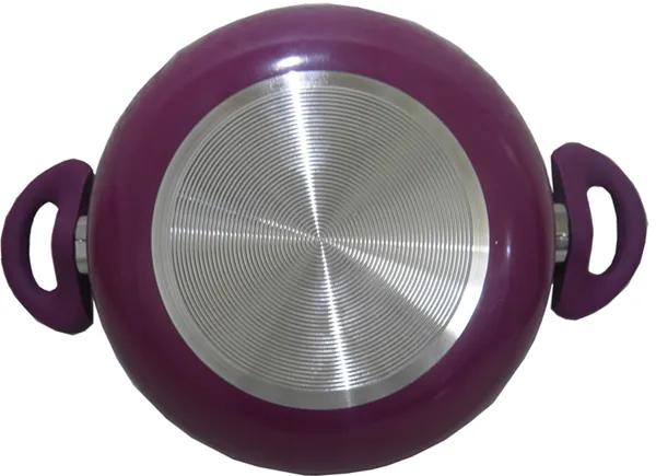 Panela Caçarola com Revestimento em Ceramica com tampa de vidro, pegador revestido em silicone