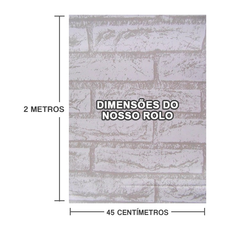Papel De Parede Tijolinho Pedra Branca Autoadesivo Lavavel  Fosco Vinil