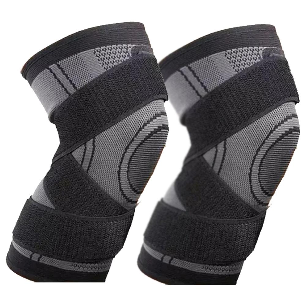 Par Joelheira Elastica 3D Joelhos Compressão Apoio Suporte Exercício  Articulação Fitness