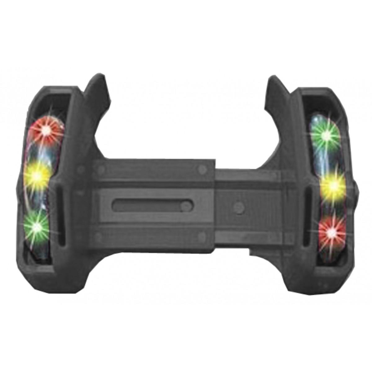 Patins Adaptado Calçados Rodas Luminosas Esporte Lazer PRETO (SKT-11)