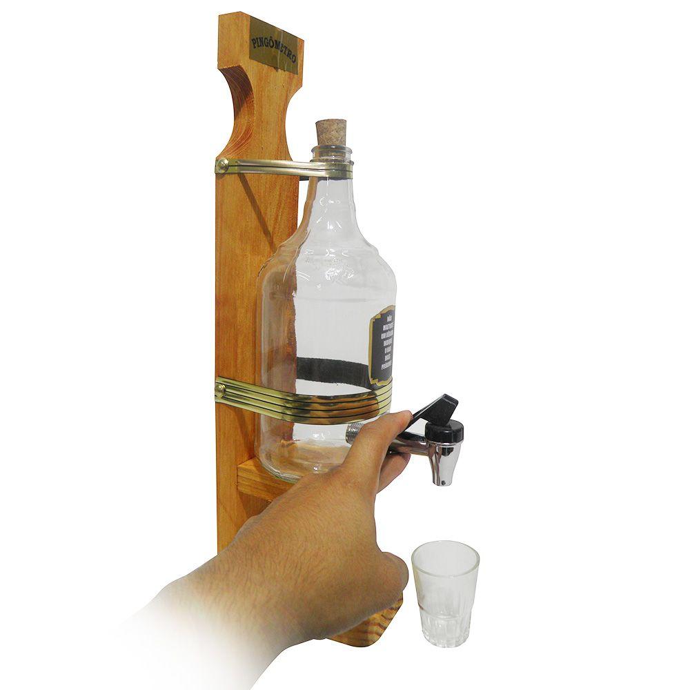 Pingometro Cachaça Vodka Torre Cerveja Garrafa 1 Litro Copo Alcool