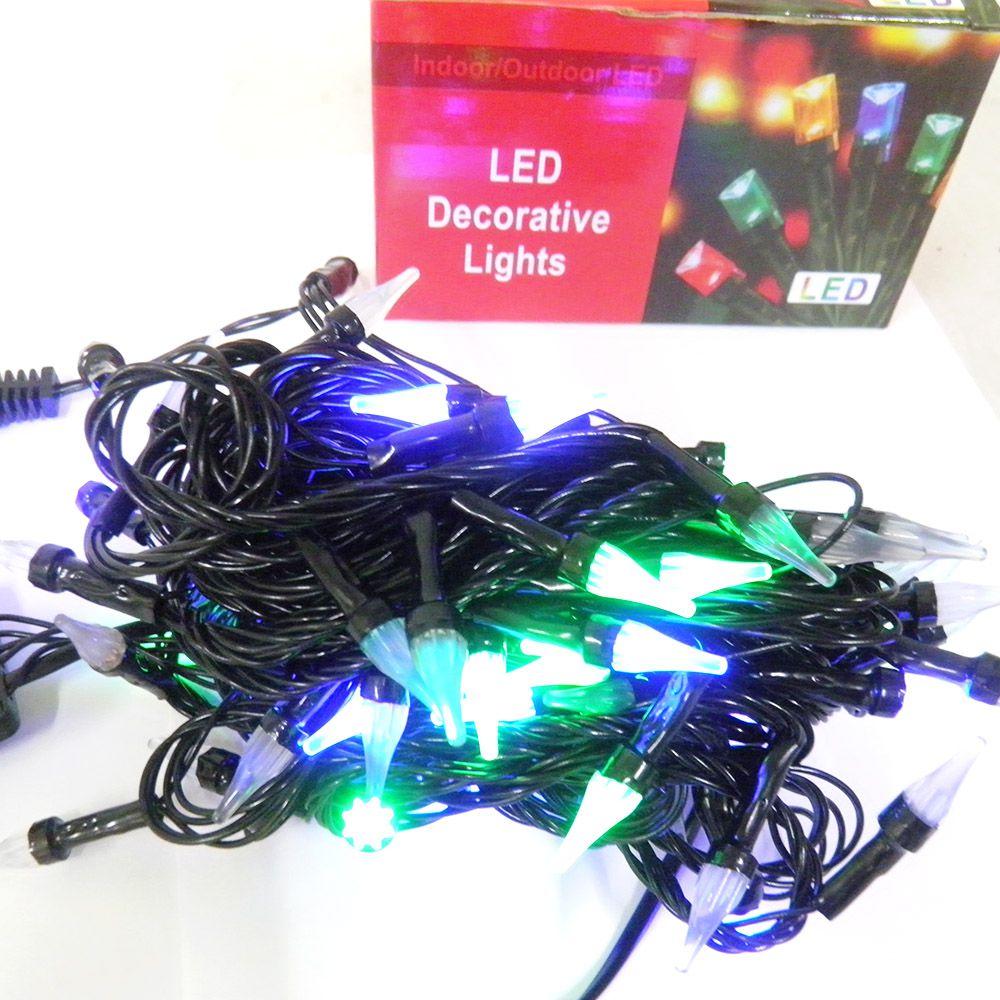 Pisca Pisca Colorido Natal Natalino 100 LED Gota 8 Funcoes 7 Metros Bivolt