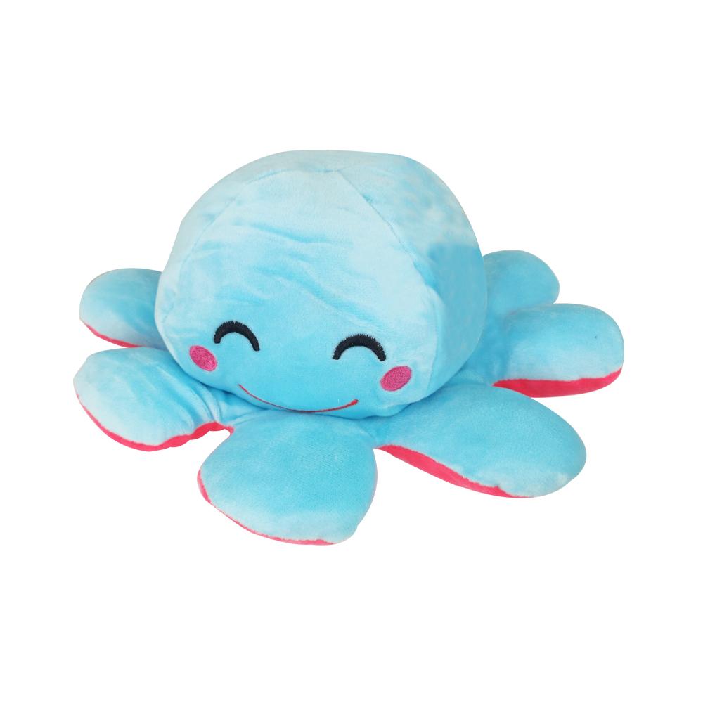 Polvo do Humor Pelúcia Reversível Feliz e Desapontado Infantil Crianças Almofada de Brinquedo