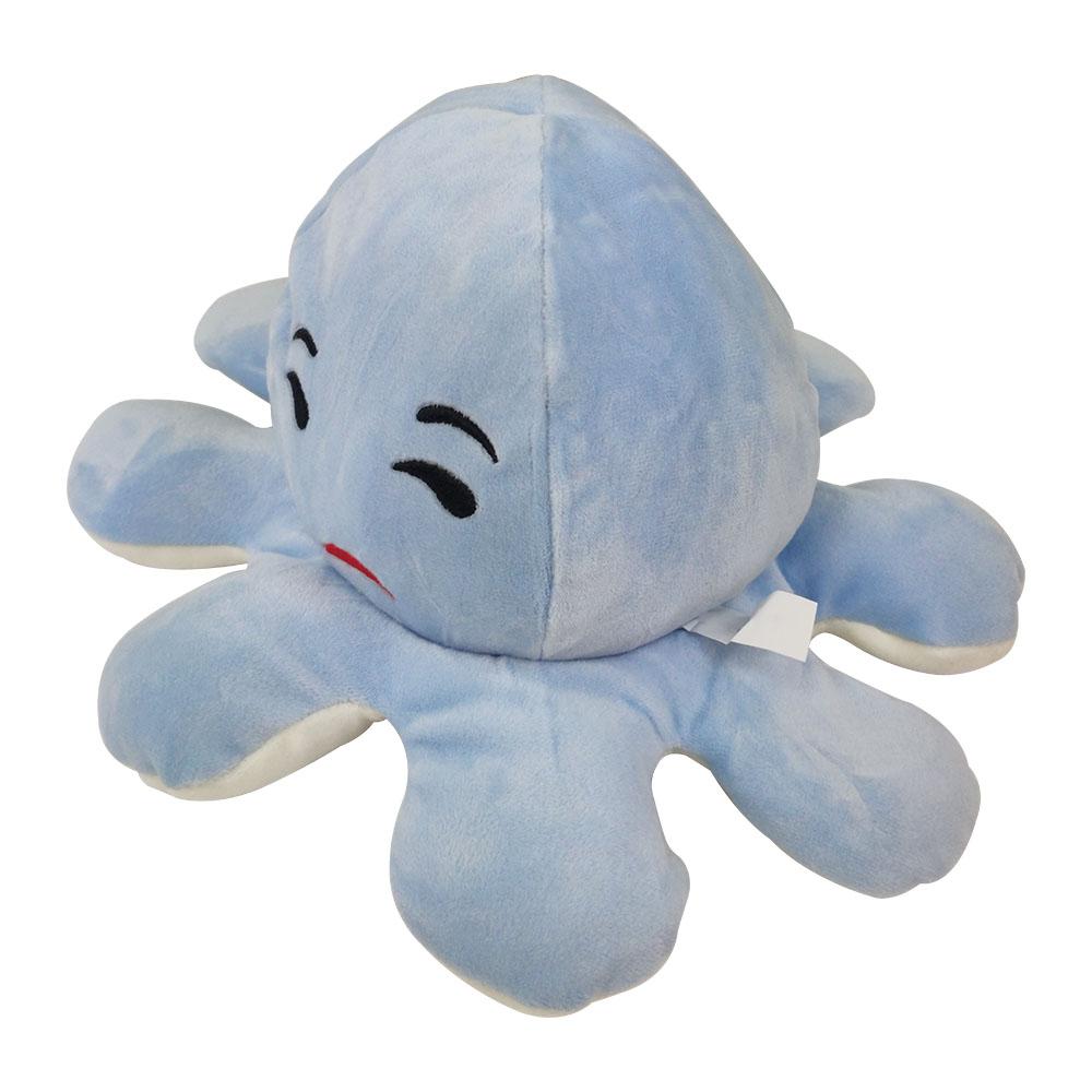 Polvo do Humor Pelúcia Reversível Feliz e Rosto Desconfiado Criança almofada Brinquedo