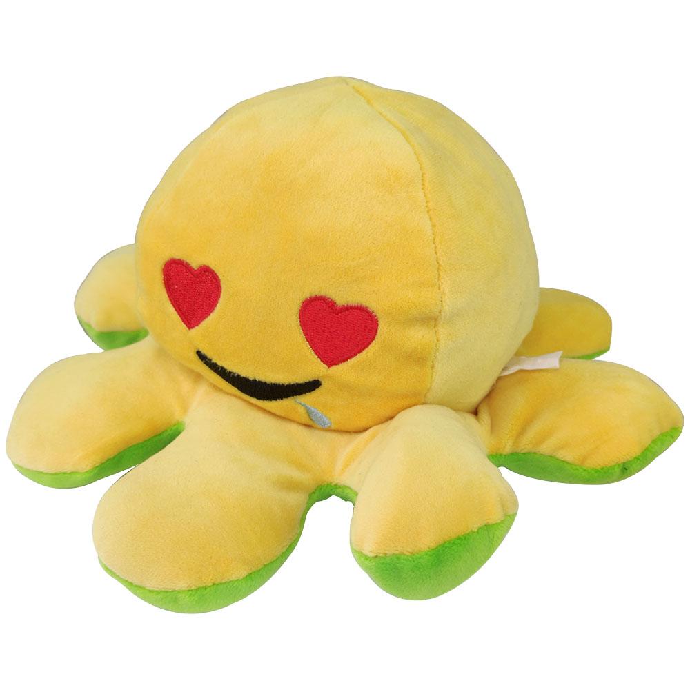 Polvo do Humor Pelúcia Reversível Desconfiado e Apaixonado Crianças Almofada de Brinquedo