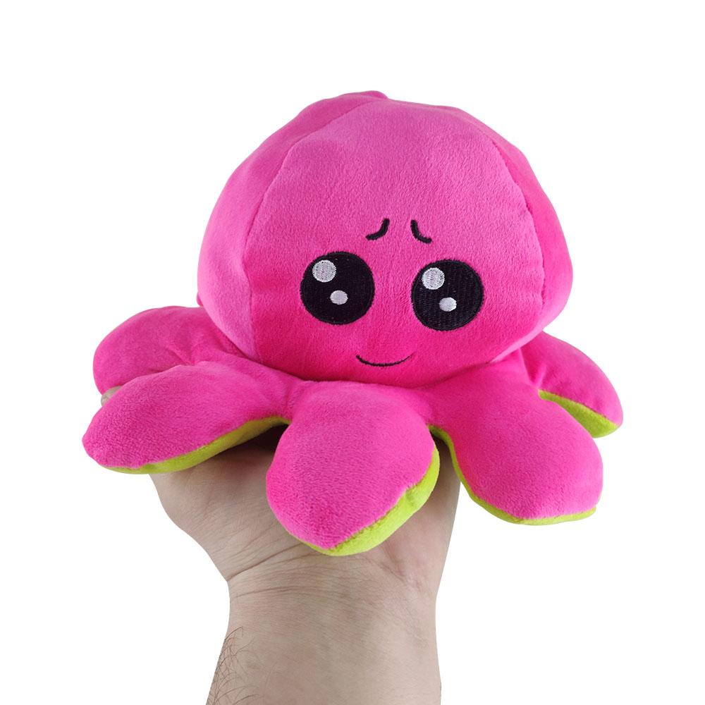 Polvo do Humor Pelúcia Reversível Feliz e Bravo Crianças Almofada de Brinquedo