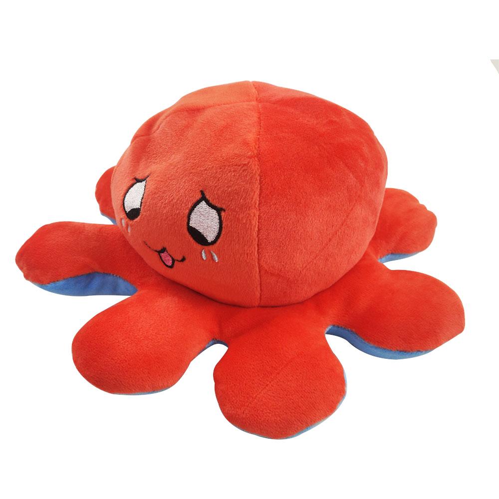Polvo do Humor Pelúcia Reversível Feliz e Rosto Piscando Criança almofada Brinquedo