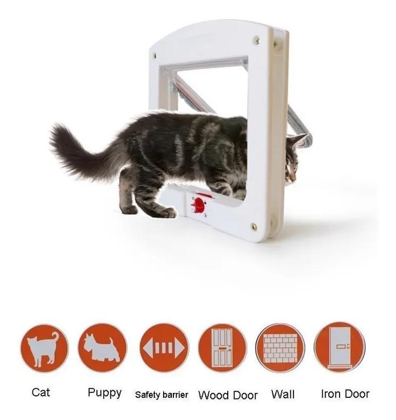 Porta Portinha De Passagem P/ Cachorro Gato 4 Em 1 Pet