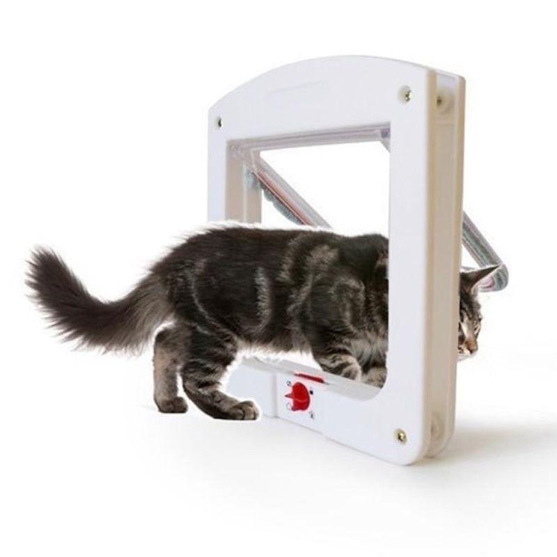 Porta Portinha De Passagem P/ Gato Cachorro 4 Em 1 Pet