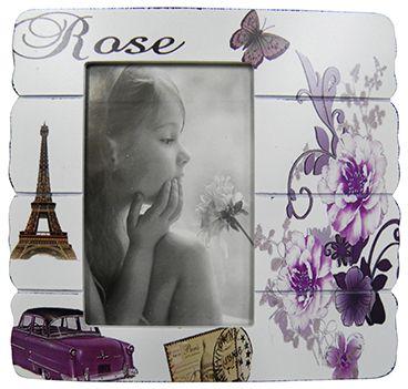 Porta Retrato 4 Unidades Fotografia 10x15 Rose Retro Vintage Foto Moldura (MAD-6702-17/Kit com 4)