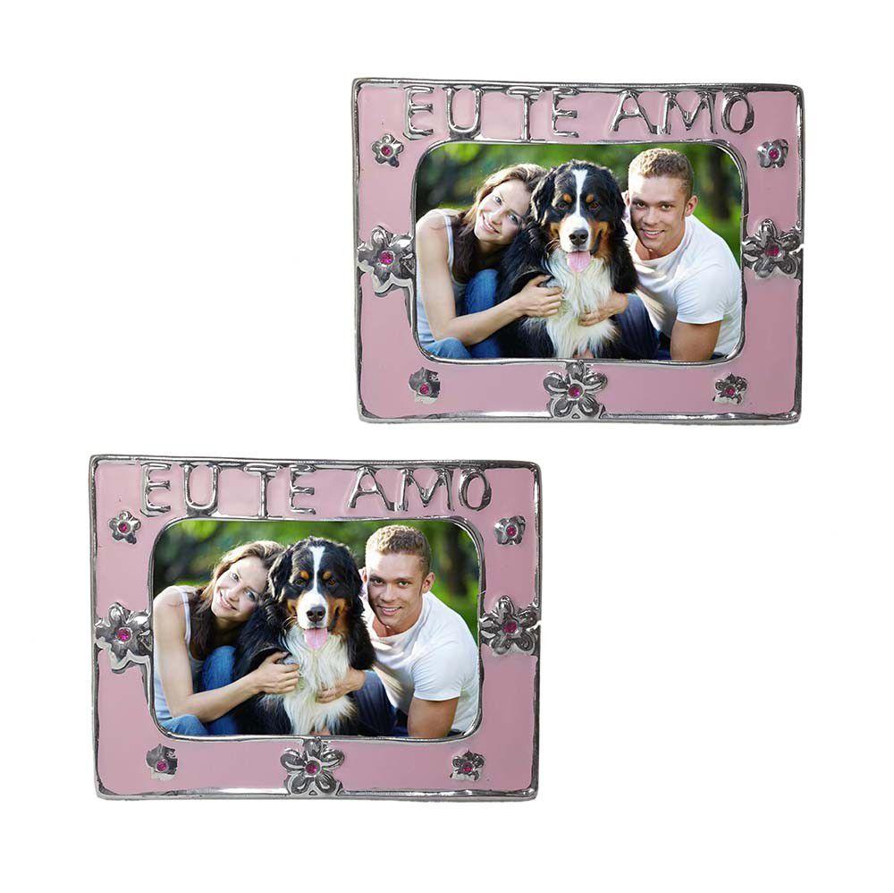 Porta Retrato Kit com 24 Unid Flor Amor Moldura Mini Para Foto Rosa (cof-7/Amor)