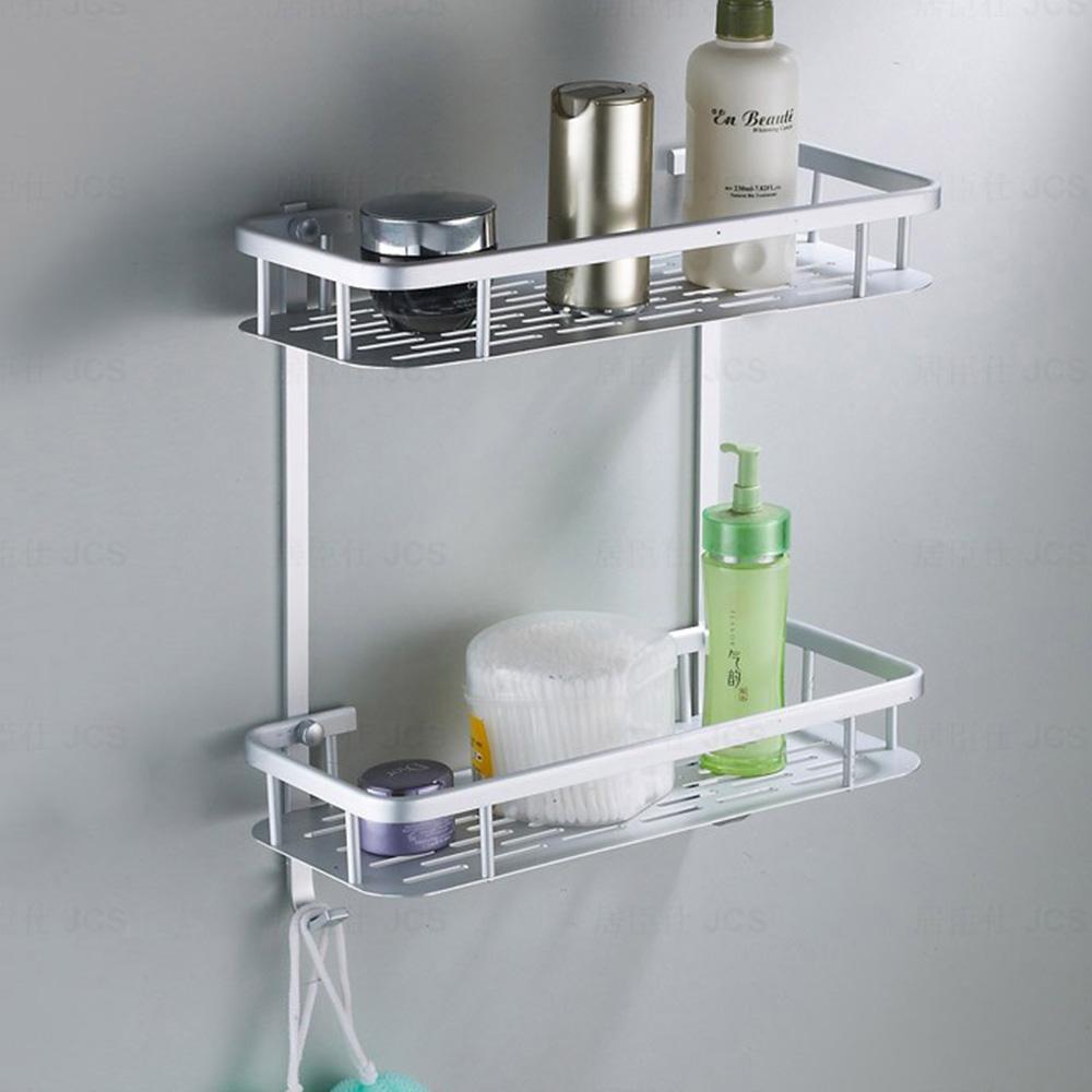 Porta Shampoo Prateleira Duplo Parede Banheiro Chuveiro Aluminio Sabonete