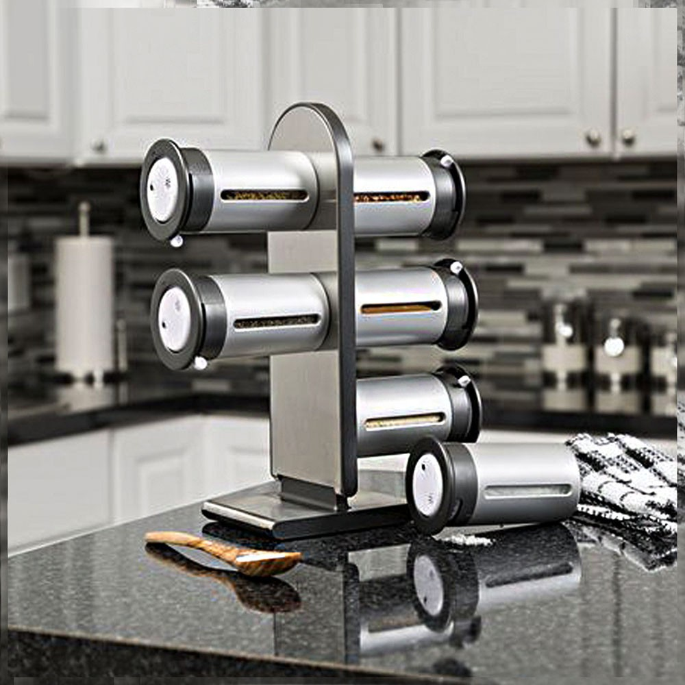 Porta Temperos Magnetico Condimentos 6 Peças Cozinha Casa Restaurante Ima Suporte Geladeira