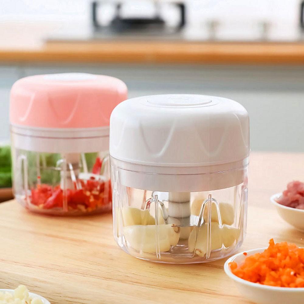 Mini Processador Alimentos Eletrico Dupla Lamina Triturador Recarregavel Portatil Cozinha Legumes
