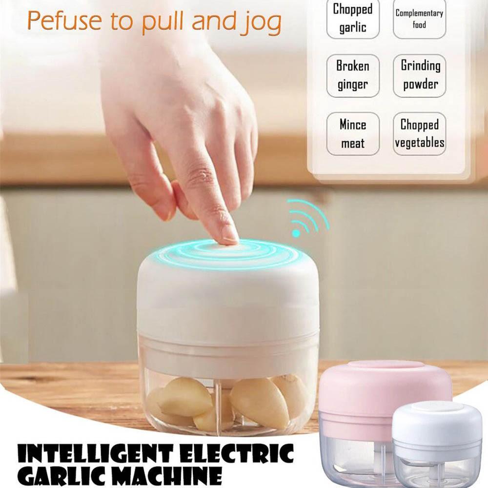 Processador alimentos eletrico mini Lamina Tripla Triturador recarregavel Portatil Cozinha legumes