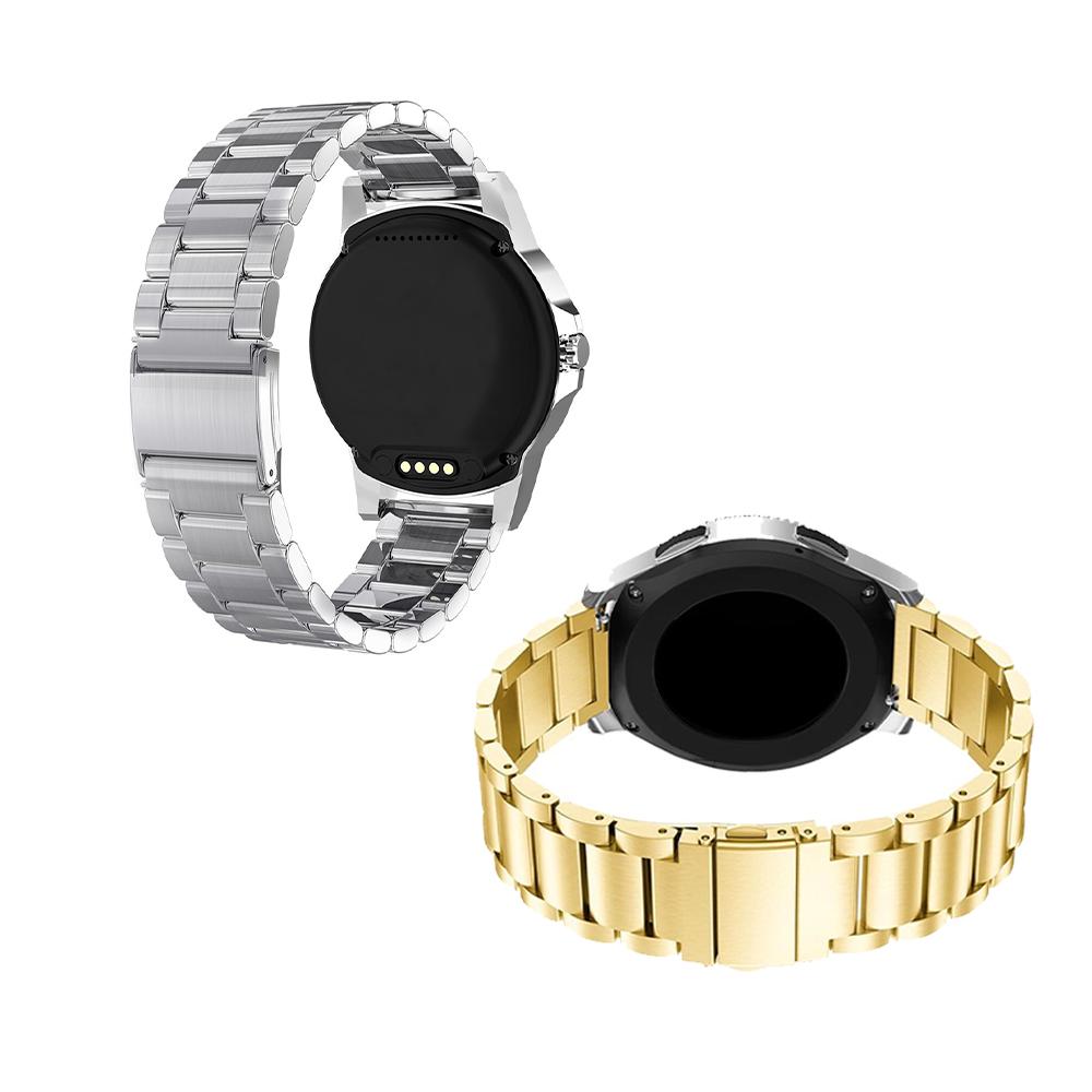 Pulseira Relogio Smartwatch Kit 2 uni Aço Inox 3 Elos Smartband Inteligente Band