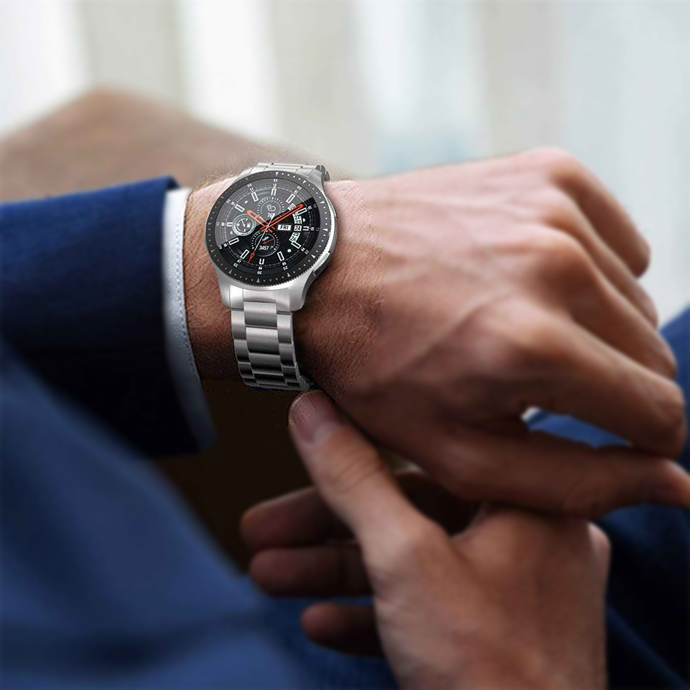 Pulseira Relogio Smartwatch Smartband  band inteligente Aço Inox 3 Elos