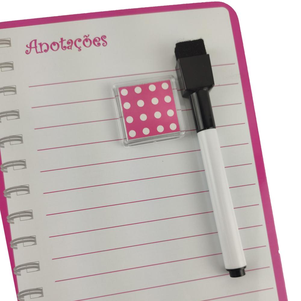 Quadro Agenda Magnético Planner de Anotaçoes Caneta Geladeira Lembretes Lista de Tarefas