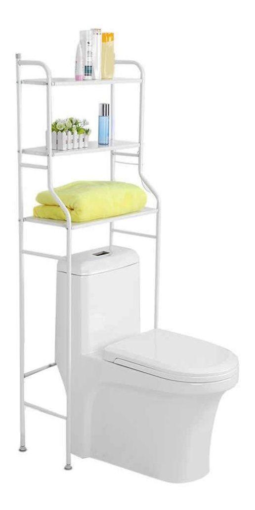 Rack Banheiro Estante Prateleira sobre vaso sanitario Metal Organizador Toalete Varanda