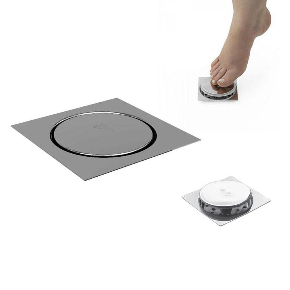 Ralo Click Inteligente Aço Inox Pop Up Clic 10x10 Banheiro Lavabo Casa