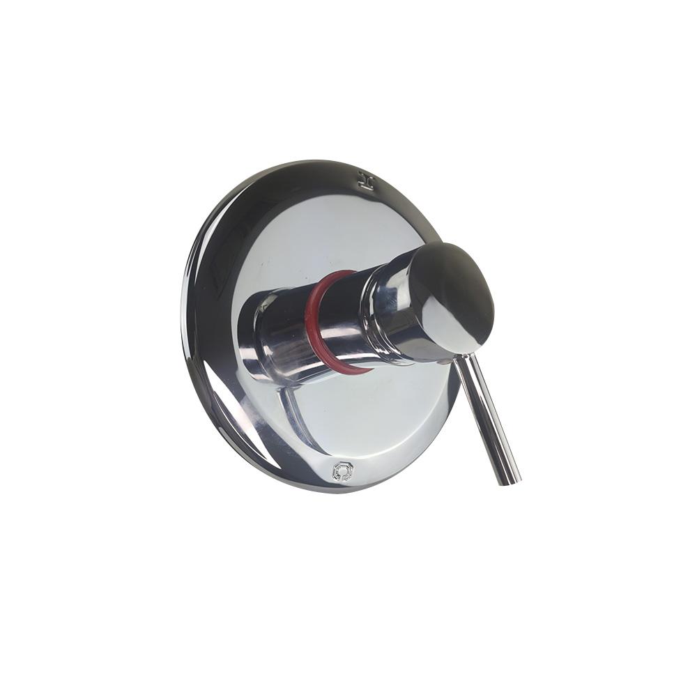 Registro Monocomando Misturador Banheiro Cromado Base Chuveiro  Redondo Banheira