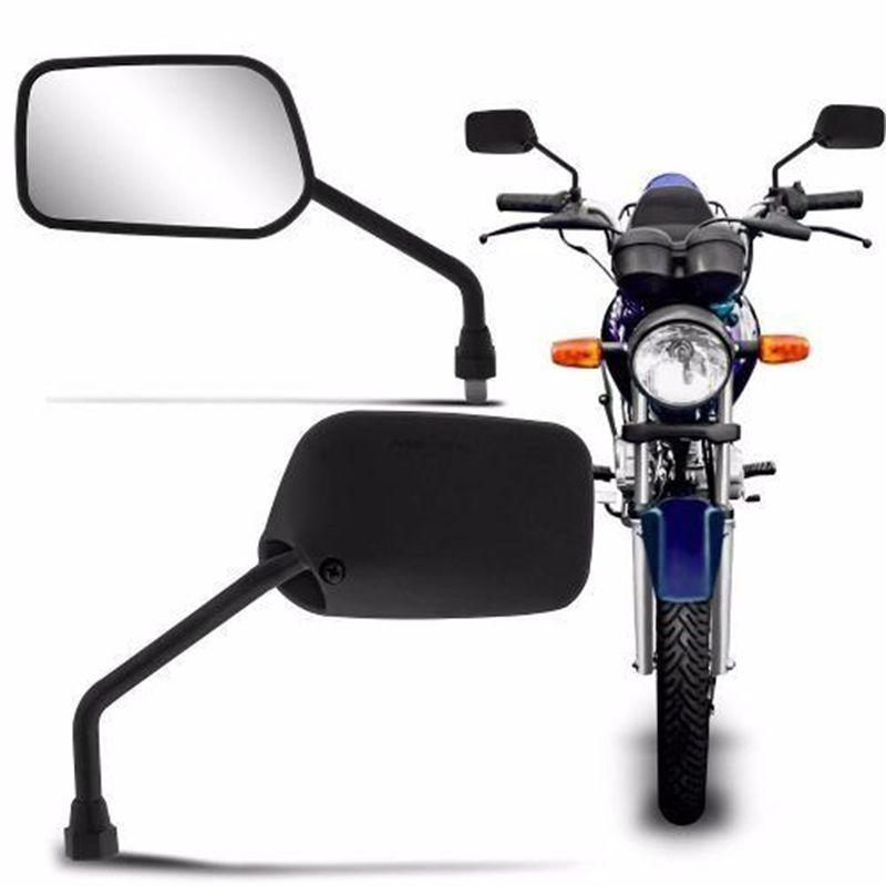 Retrovisor Moto Titan 95/99 - 150/Fan Serve em Todas Hondas Par (12330)