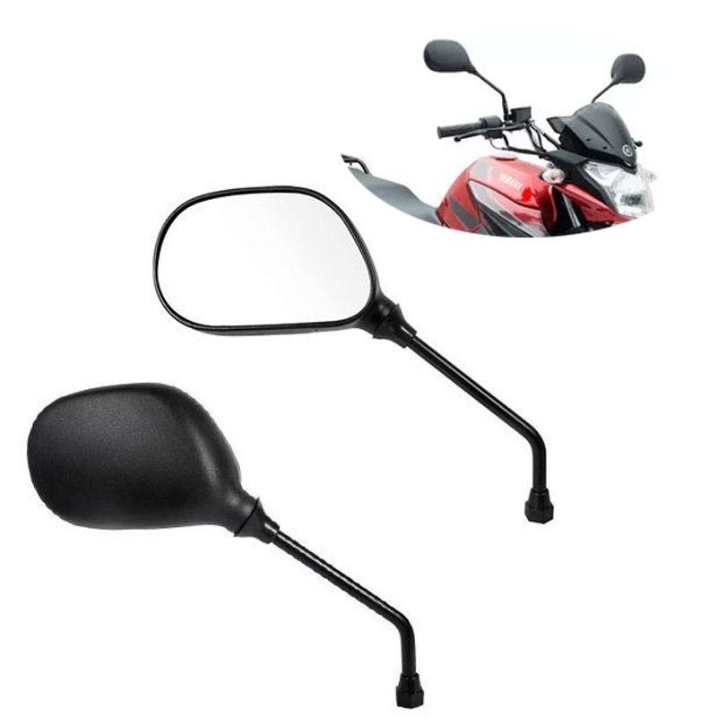 Retrovisor Moto Ybr Factor 125 cc Serve em Todas Yamaha Par (12482)